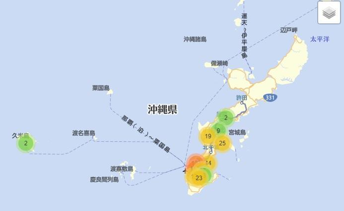 沖縄県AED設置マップ